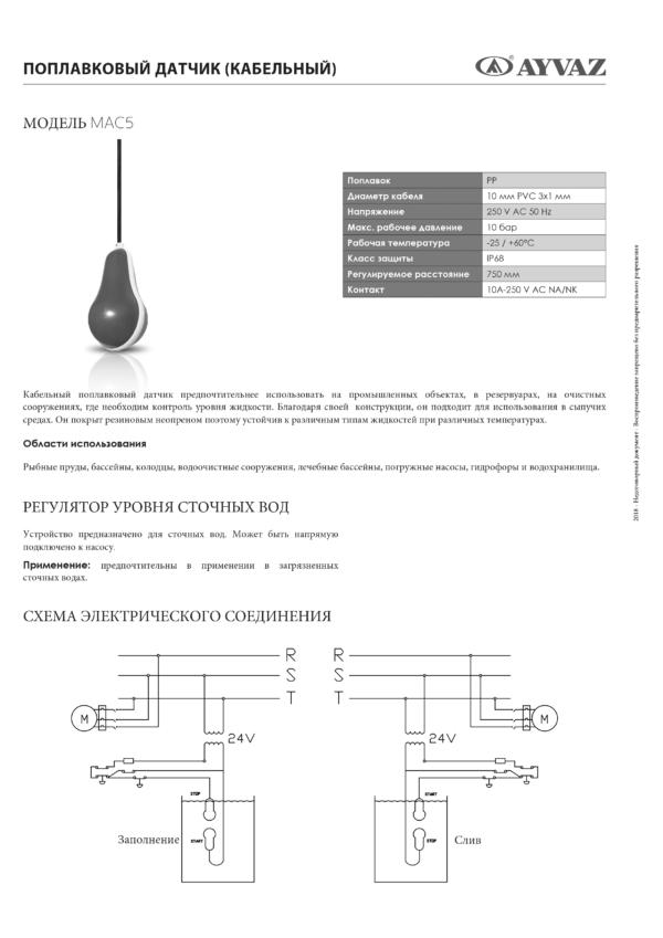 Поплавковый датчик кабельный SMART